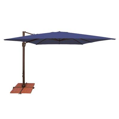 10 Bali Square Cantilever Umbrella Fabric: Solefin / Sky Blue