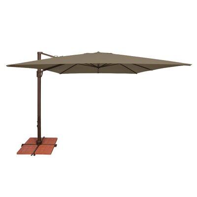 10 Bali Square Cantilever Umbrella Fabric: Solefin / Taupe