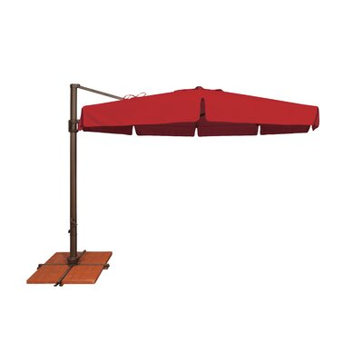 11 Bali Cantilever Umbrella Fabric: Sunbrella / Jockey Red