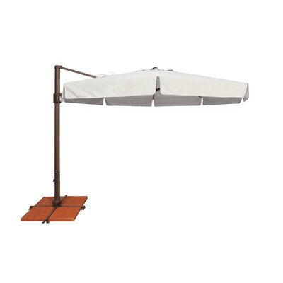 11 Bali Cantilever Umbrella Fabric: Sunbrella / Natural