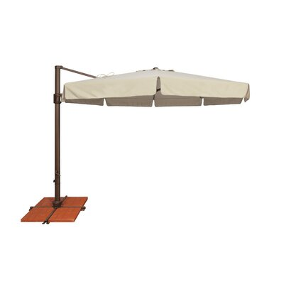 11 Bali Cantilever Umbrella Fabric: Sunbrella / Antique Beige