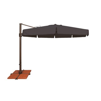 11 Bali Cantilever Umbrella Fabric: Solefin / Black