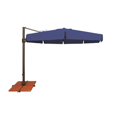 11 Bali Cantilever Umbrella Fabric: Solefin / Sky Blue
