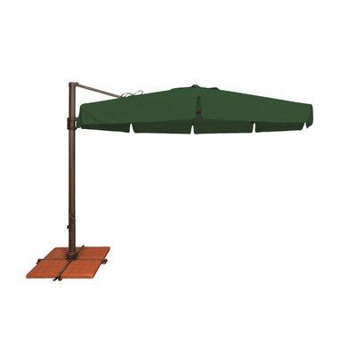 11 Bali Cantilever Umbrella Fabric: Solefin / Forest Green
