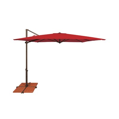 8.6 Skye Square Cantilever Umbrella Fabric: Sunbrella / Jockey Red