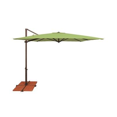 8.6 Skye Square Cantilever Umbrella Fabric: Sunbrella / Ginkgo
