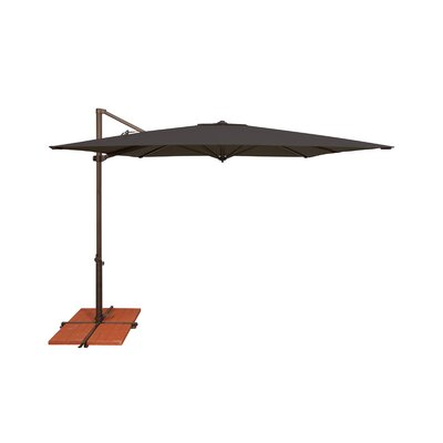 8.6 Skye Square Cantilever Umbrella Fabric: Solefin / Black