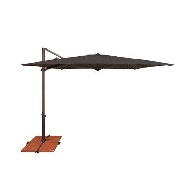 8.6 Skye Square Cantilever Umbrella Fabric: Solefin / Black