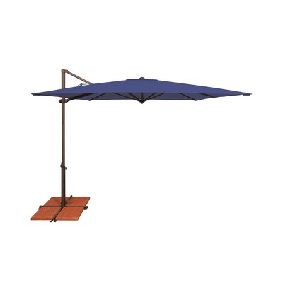 8.6 Skye Square Cantilever Umbrella Fabric: Solefin / Sky Blue