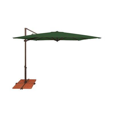 8.6 Skye Square Cantilever Umbrella Fabric: Solefin / Forest Green
