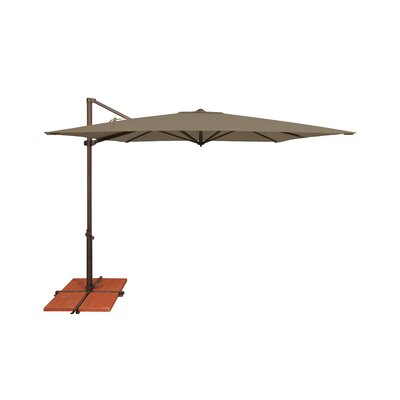 8.6 Skye Square Cantilever Umbrella Fabric: Solefin / Taupe