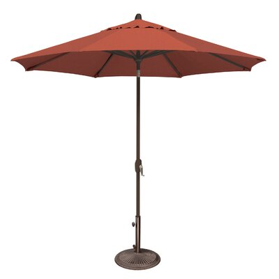 9 Lanai Market Umbrella Fabric: Sunbrella / Henna
