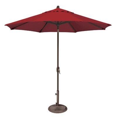 9 Lanai Market Umbrella Fabric: Solefin / Really Red
