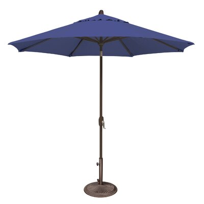 9 Lanai Market Umbrella Fabric: Solefin / Sky Blue