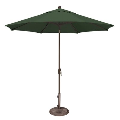 9 Lanai Market Umbrella Fabric: Solefin / Forest Green