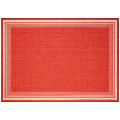 Garden Cottage Cherry Red Outdoor Area Rug Rug Size: 710 x 10