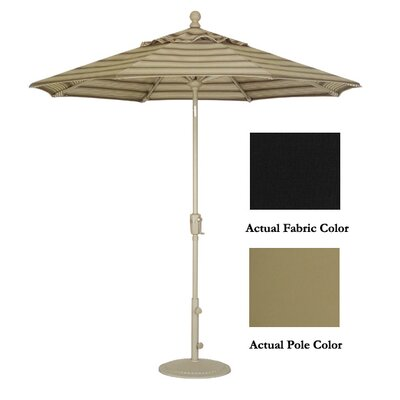 9' Market Umbrella Color: Champagne/Black UM9101-2408