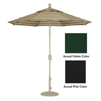 9 Market Umbrella Color: Black/Black Forest Green