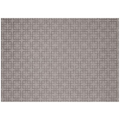 Lattice Silver/Charcoal Outdoor Area Rug Rug Size: 53 x 74