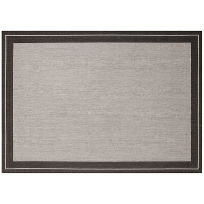 Black/Gray Indoor/Outdoor Area Rug