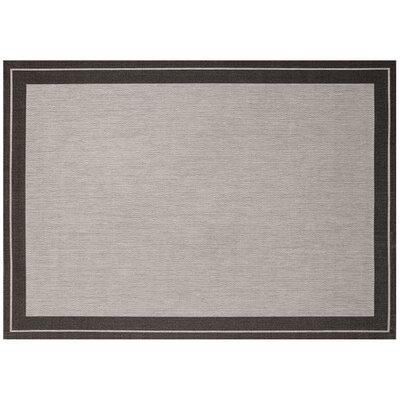 Black/Gray Indoor/Outdoor Area Rug