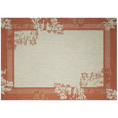 Impressions Autumn Red/Beige Indoor/Outdoor Area Rug Rug Size: 53 x 74