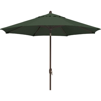 9 Lanai Market Umbrella Fabric: Solefin / Forest Green