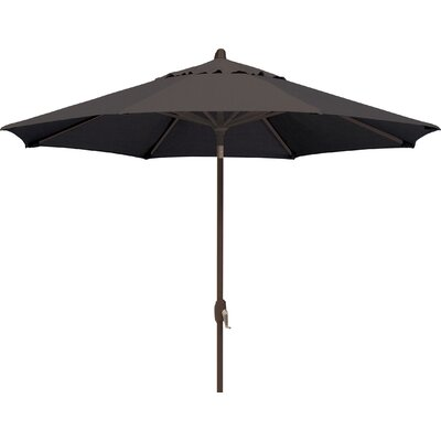 9 Lanai Market Umbrella Fabric: Solefin / Black