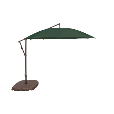10 Cantilever Umbrella Fabric Color: Forest Green