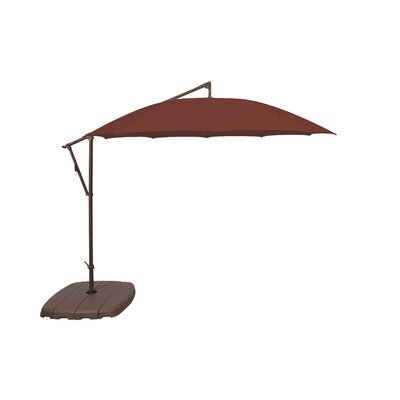 10 Cantilever Umbrella Fabric Color: Deep Red