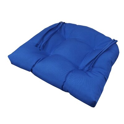 Outdoor Sunbrella Chair Seat Cushion Fabric: Sunbrella Carnegie Willow