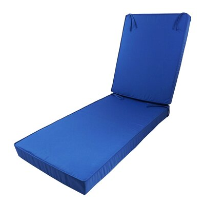 Outdoor Sunbrella Deep Seating Chaise Lounge Cushion Fabric: Sunbrella Dupione Bamboo