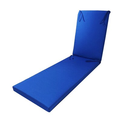 Outdoor Sunbrella Chaise Lounge Cushion Fabric: Sunbrella Canvas Capri Blue
