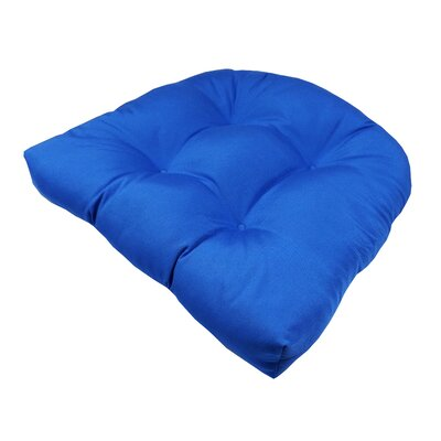 Outdoor Sunbrella Chair Seat Cushion Fabric: Sunbrella Stanton Graystone