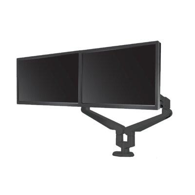 Edge Height Adjustable 2 Screen Desk Mount Finish: Black
