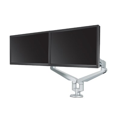 Edge Height Adjustable 2 Screen Desk Mount Finish: Silver