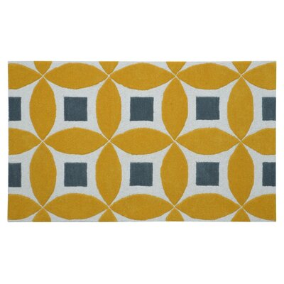 Henley Hand-Tufted Gold/Gray Area Rug Rug Size: Rectangle 4 x 6