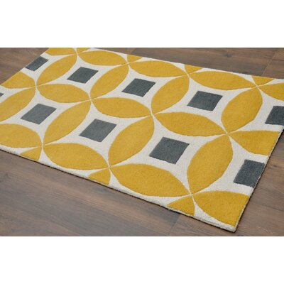 Henley Hand-Tufted Gold/Gray Area Rug Rug Size: Rectangle 8 x 10