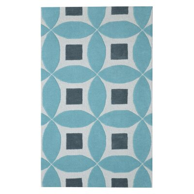 Henley Hand-Tufted Lite Blue/Gray Area Rug Rug Size: Rectangle 5 x 8
