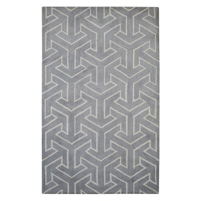 Modern Marvel Hand-Tufted Gray Area Rug Size: 4 x 6