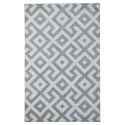 Modern Marvel Hand-Tufted Devin Dark Gray/Ivory Area Rug Size: 5 x 8