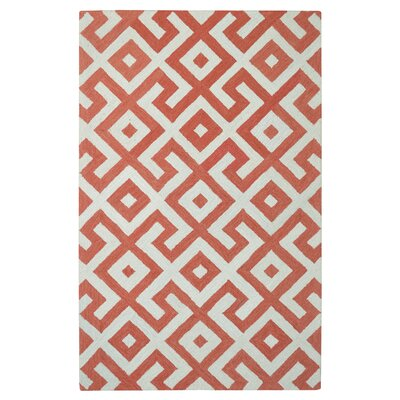 Modern Marvel Hand-Tufted Devin Orange/Ivory Area Rug Size: 4 x 6