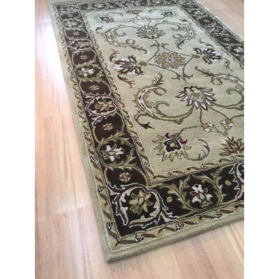 Wool Hand-Tufted Beige/Brown Area Rug Rug Size: 6 x 6