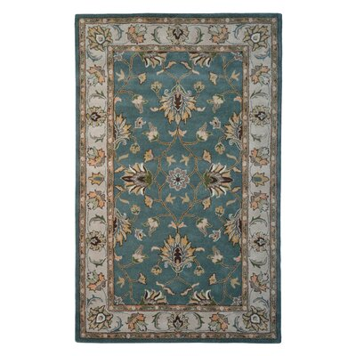 Wool Hand-Tufted Beige/Green Area Rug Rug Size: 6 x 6