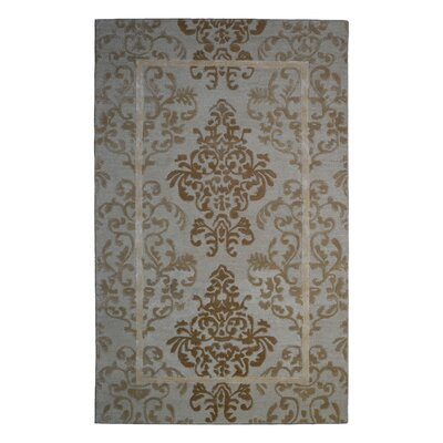 Wool/Viscose Hand-Tufted Ivory/Beige Area Rug Rug Size: 6 x 6