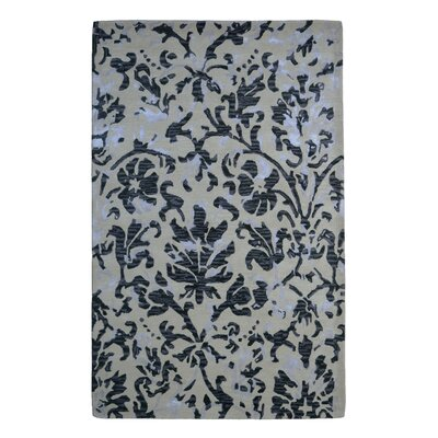 Wool/Viscose Floral Hand-Tufted Ivory/Brown Area Rug Rug Size: 5 x 8