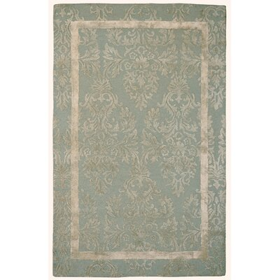Wool/Viscose Hand-Tufted Blue/Sage Area Rug Rug Size: 5 x 8