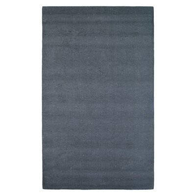 Wool Solid Hand-Tufted Black Area Rug Rug Size: 5 x 8