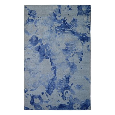 Wool Floral Hand-Tufted Ivory/Purple Area Rug Rug Size: 5 x 8