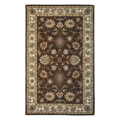 Wool Hand-Tufted Brown/Sage Area Rug Rug Size: 6 x 6